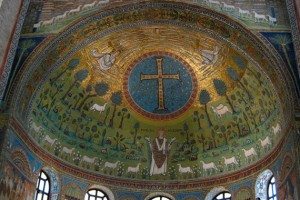 Образ Преображения Господня в базилике Сант-Аполлинаре ин Классе в Равенне. VI век. Фото с сайта mariamagdalina.ru